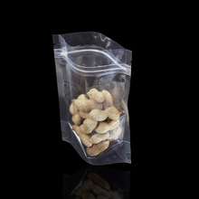 100pcs/lot Clear Stand Up Plastic Bag Dried Food Storage Bags Reclosable Transparent Zip Lock  Package Retail