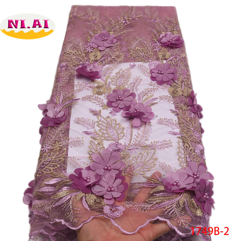 African Lace Fabric 2018 High Quality Net French Lace Fabric Beaded Lace Fabri Nigerian Lace Fabrics