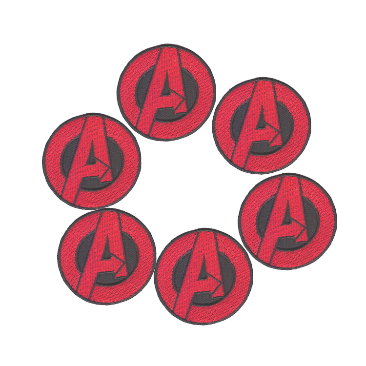 Factory outlet AVENGERS Small Red A EMBROIDERED IRON-ON <font><b>PATCH</b></font> <font><b>marvel</b></font> hulk captain america DIY <font><b>Clothing</b></font> <font><b>patch</b></font> image