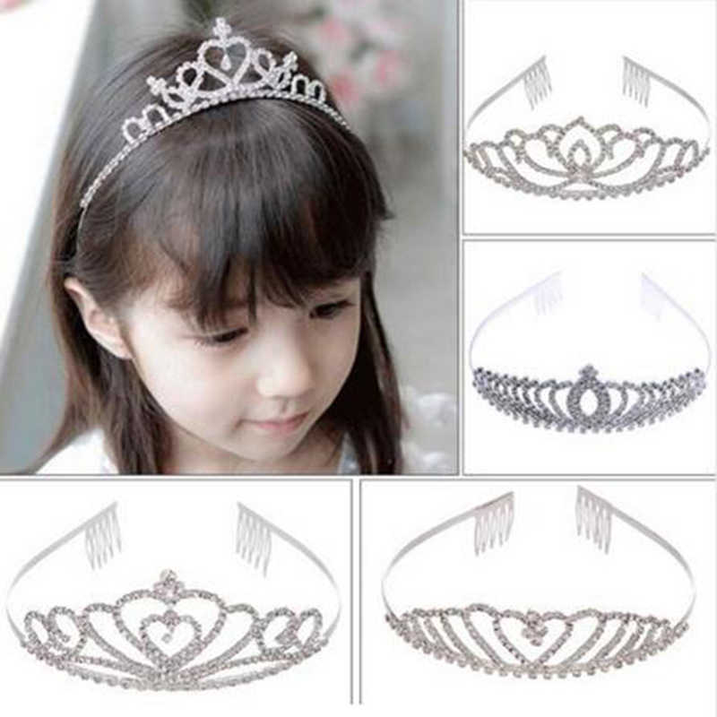 Valentine's Day Crystal Tiara Hairband Kid Girl Bridal Princess Prom Crown Party Accessiories Princess Prom Crown Headband