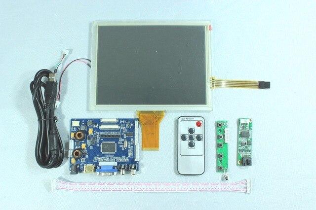 """HDMI+VGA+2AV+Audio Controller Driver board + LCD Panel 8"""" 800x600 EJ080NA-05A/AT080TN52 + Remote Control"""
