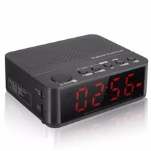 Discount! LED Digital Display TF DC 5V Wireless Amplifier Clock A2DP HIFI Stereo Speaker Alarm Clock Bluetooth Speaker FM Radio Mp3