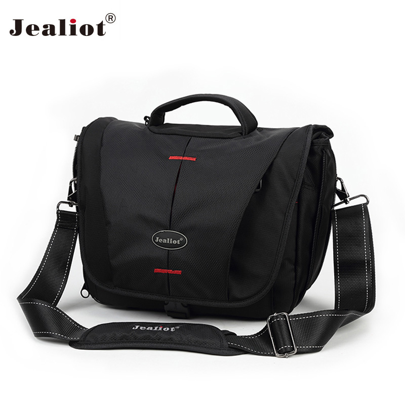 Jealiot Camera Bag foto bag Waterproof Travel SLR DSLR Shoulder bag Sling lens bag Digital Camera case for Sony Nikon Canon 2018 jealiot waterproof camera bag dslr slr shoulder bag video photo bag lens case digital camera for canon nikon free shipping