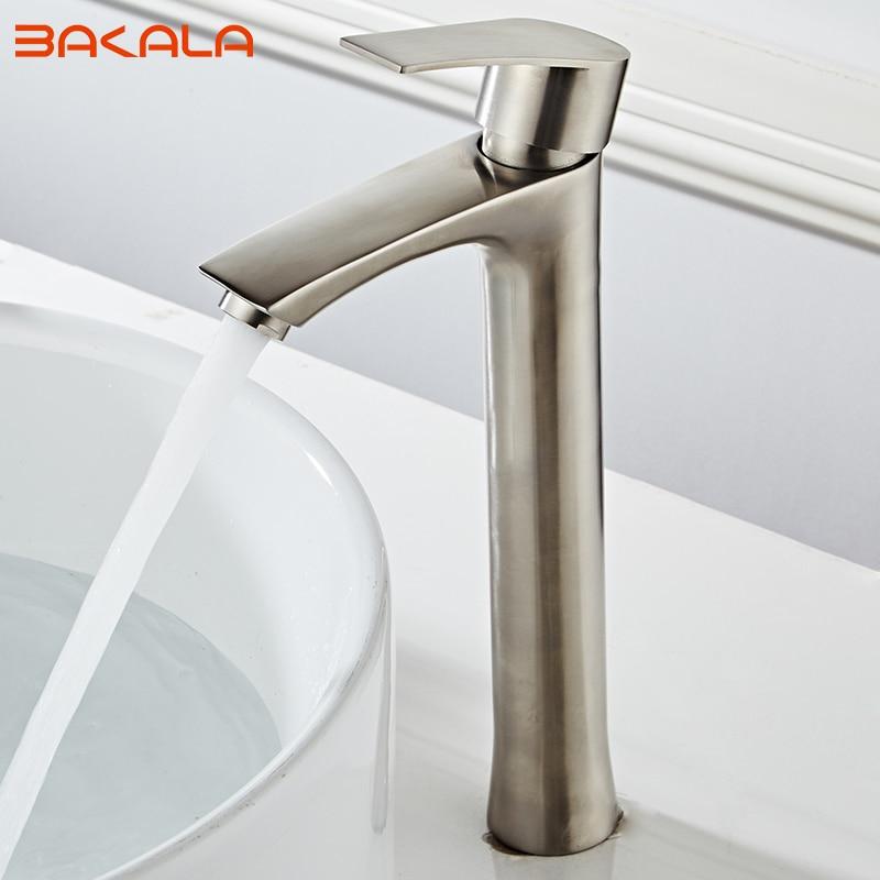 浴室 Baisn 蛇口 304 ステンレス鋼起毛トイレ背蛇口セラミックプレート流域混合栓冷水 2018A54B  グループ上の 家のリフォーム からの 流域水栓 の中 1