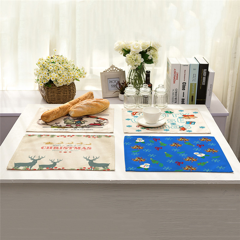 Christmas Tree Napkin Pattern: Kitchen Table Mats Cotton Linen Table Napkin Christmas
