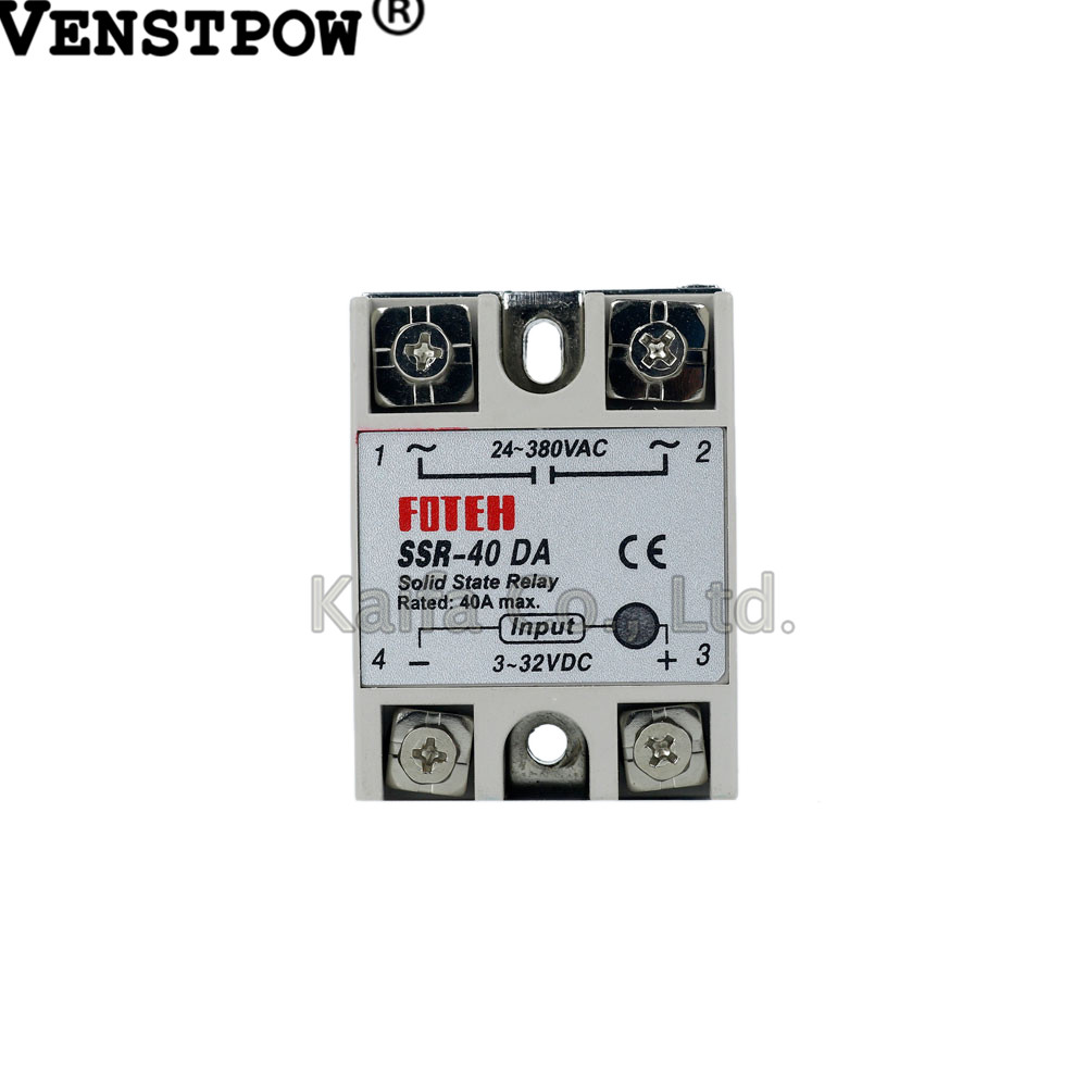 цена на Industrial Solid State Relay SSR 40A with Protective Flag SSR-40DA 40A DC control AC