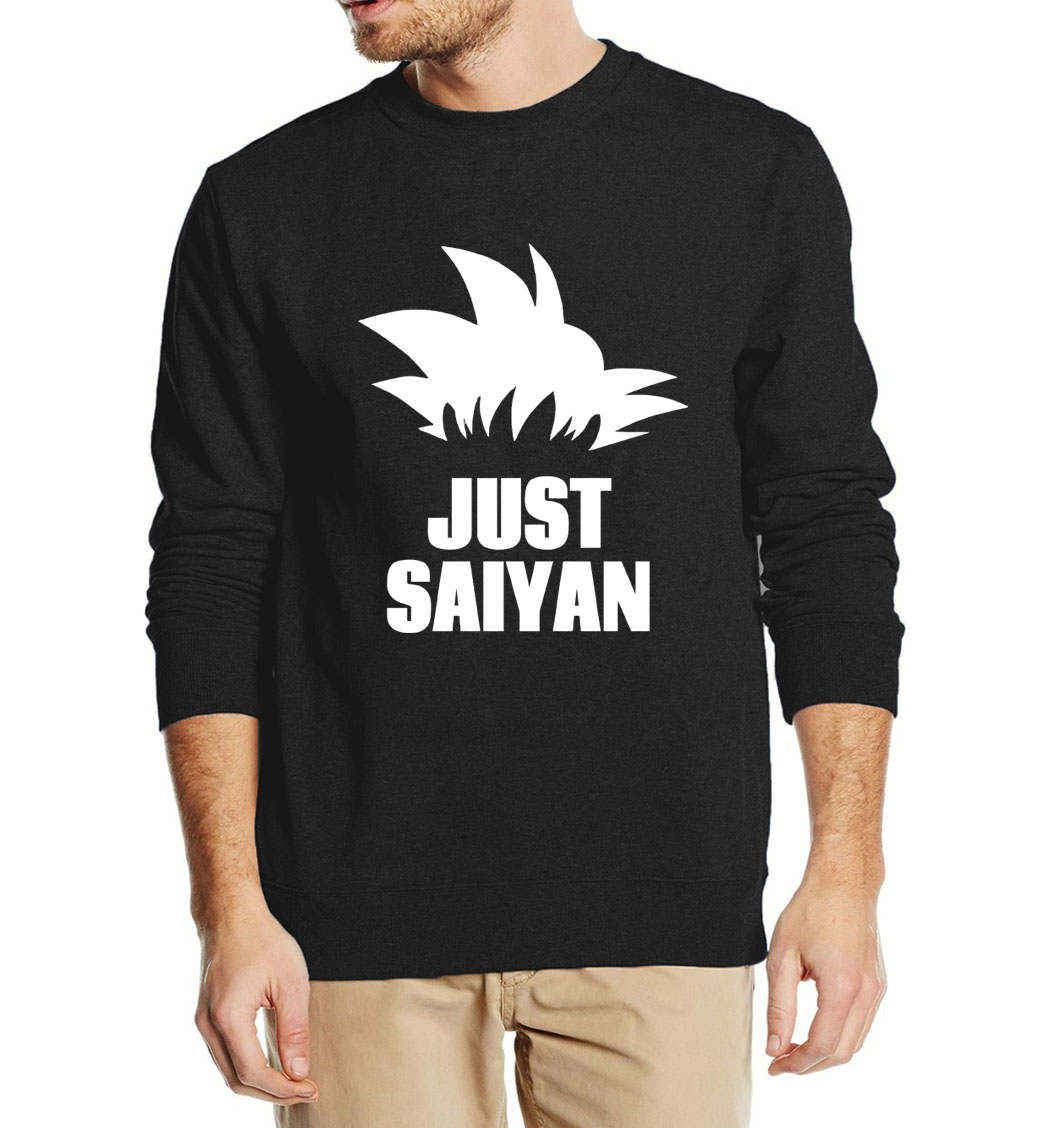 Anime Dragon Ball Z Just Super Saiyan Harajuku Sweatshirt For Men 2019 Autumn Winter Hoodies Male Casual Fleece Brand Hooded