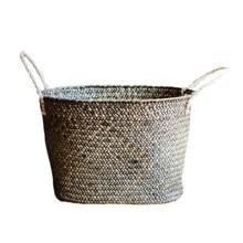 15%, ручная плетеная корзина для хранения, корзина для белья, ящик для хранения для ванной комнаты, домашнее украшение, поделки для натуральных морских водорослей