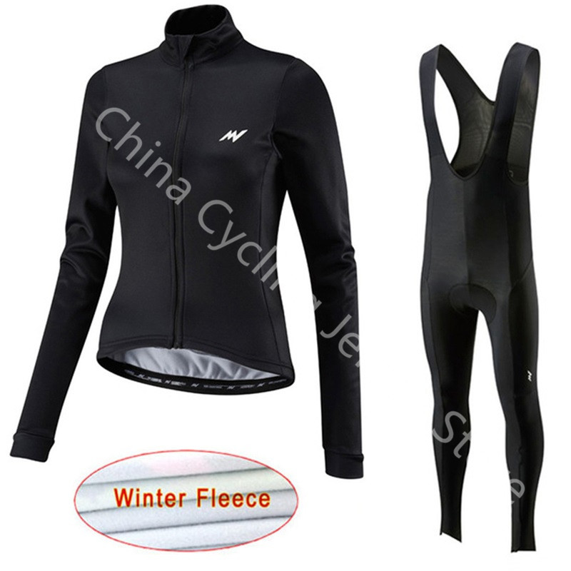 Cycling Clothings Hearty Ropa Ciclismo Morvelo 2019 Women Cycling Clothing Long Sleeve Mtb Bike Shirts Bib Pants Winter Thermal Fleece Cycling Jersey A6 Good For Antipyretic And Throat Soother Cycling