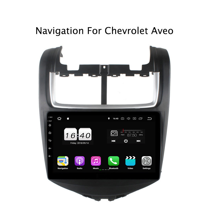 "9"" 2G RAM 16G ROM Android 8.1 Car DVD Multimedia Player For Chevrolet Aveo GPS Navigation Radio Stereo Audio"