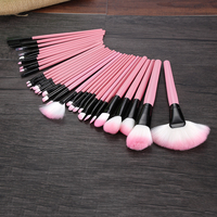 Top Quality Professional 32 Pcs Face Cosmetics Makeup Brush Set Tools Make Up Toiletry Kit Brand