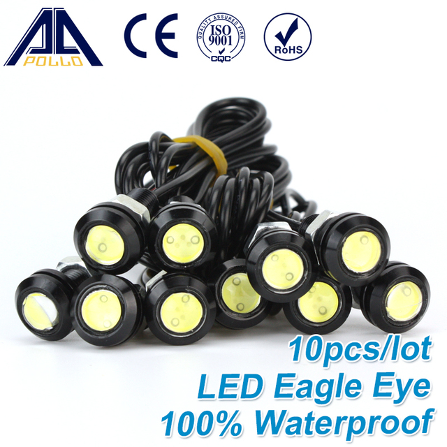 Free Shipping 10pcs High brightness DRL Eagle Eye Daytime Running Light LED Car work Lights Source Waterproof Parking lamp