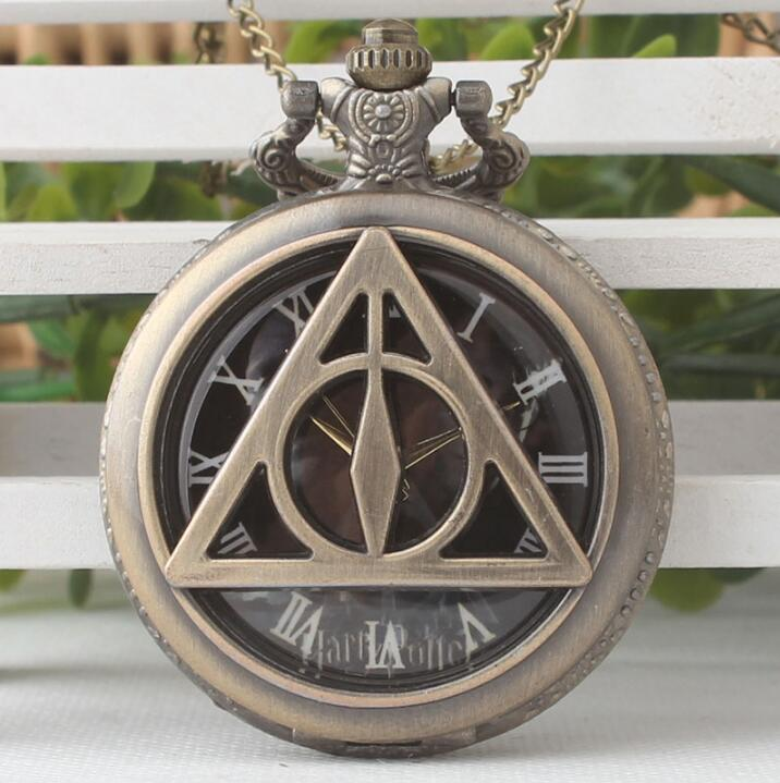 Harry Potter Deathly Hallows Antique Pocket Watch