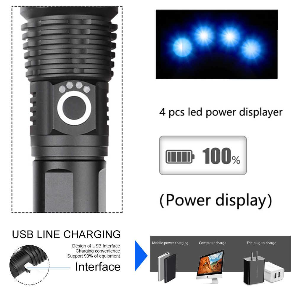 80000 люменов лампа xhp70.2 самый мощный фонарик usb Zoom СВЕТОДИОДНЫЙ Фонарь xhp70 xhp50 18650 или 26650 батарея лучший кемпинг, Велоспорт
