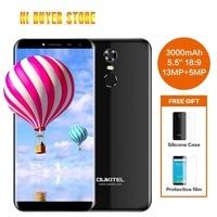 Oukitel C8 5,5 дюйма Hd 18:9 Экран мобильного телефона Mtk6580a 4 ядра 2 Гб оперативной памяти 16 Гб ПЗУ 13mp Android 7,0 3000 mah Touch Id смартфон