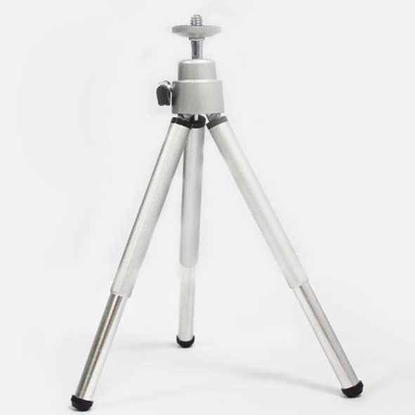 New Wholesale Strtchable Mini Tripod Stand Portable For Camera Phone Video Projector Silver Black Rotatable Beamer Foot Flexible