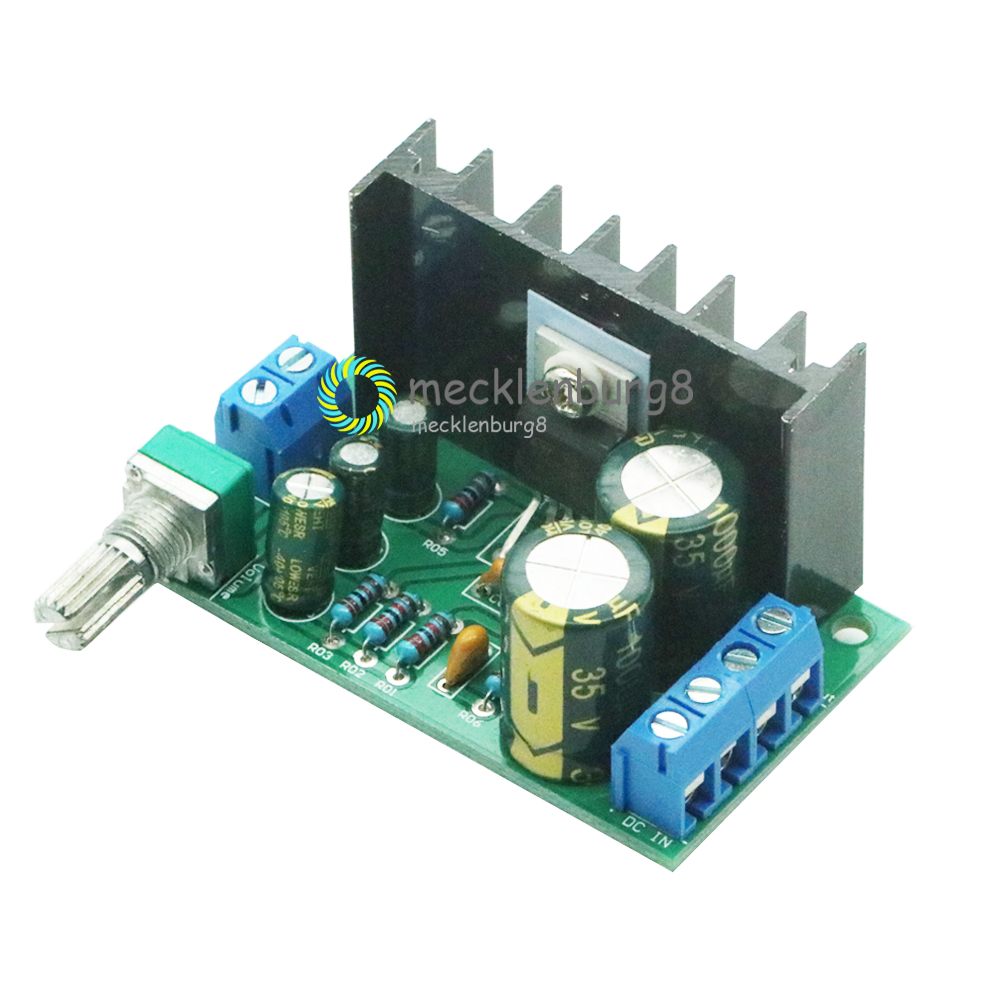TDA2050 DC 12-24V 5W-120W One Channel Mono Audio Power Amplifier Board Module 1-Channel 60*35*40mm