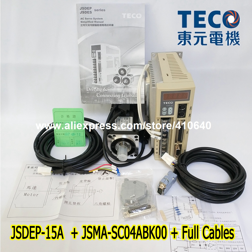 Free Shipping TECO 400W Servo Motor JSMA-SC04ABK00 And Drive JSDEP-15A with Cable korg slm 1cm slimpitch