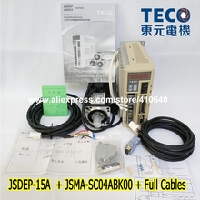 Free Shipping  TECO 400W Servo Motor JSMA-SC04ABK00 And Drive JSDEP-15A with Cable free shipping compatible mr j2hbus3m cable sscnet ii buscable for mr j2s b oem mrj2hbus3m servo cable