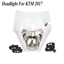Motorcycle Headlight Headlamp For 2017 18  Headligt EXC XCF SX F SMR Enduro Dirt Bike Motocross Supermoto H4 Bulb powerzone headlight for ktm sx exc xcw xcf sxf smr motorcycle dirt bike motocross supermoto enduro headlamp headlight fairing