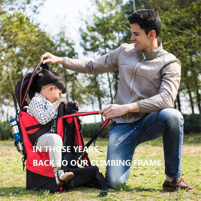 Foldable Baby Travel carrier Waterproof Baby toddlr Hiking Backpack Outdoor Mountaineering Baby back Frame Chair 4