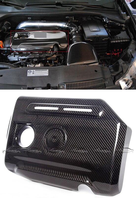 Стайлинга автомобилей углеродного волокна двигателя крышки клапана протектор подходят для VW GOLF VI 6 MK6 G T I SCIROCCO