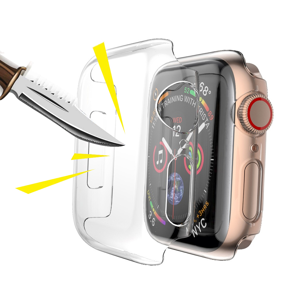 Case For Apple Watch 5 4 Apple Watch Case Iwatch 3 2 1 42mm 38mm 44mm 40mm Transparent Screen Protector Cover Waterproof Bumper