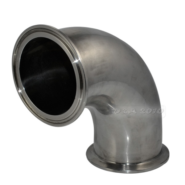 63MM 2 1/2 2.5 Sanitary Ferrule Elbow 90 Degree Pipe Fitting Tri Clamp Stainless Steel SS316