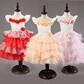 Meninas adolescentes Shoulderless Vestido Em Camadas Crianças Flor Tutu Bolo Vestidos de Princesa para a Festa de Aniversário de Baile vestidoes
