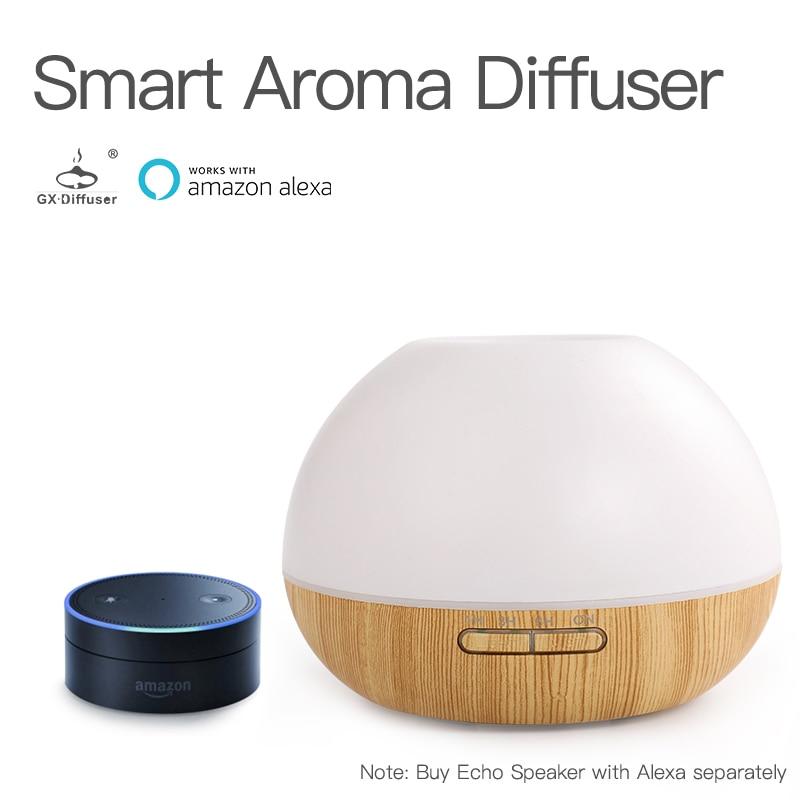 GX. diffuseur Amazon WIFI APP humidificateur à ultrasons 300 ML diffuseur d'aromathérapie Alexa diffuseur d'arôme LED diffuseur d'huile brumisateur