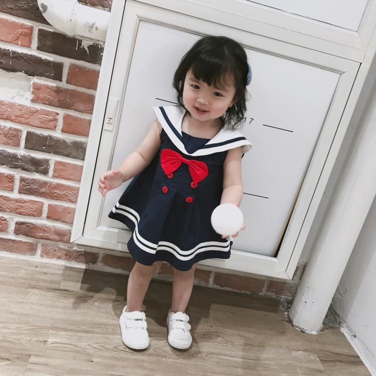 Celveroso nieuwe zomer baby meisje Jurk katoenen strik Baby - Kinderkleding - Foto 1