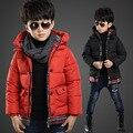 Children Down Cotton Jacket Long Sleeve Hooded Boy Winter Warm Coat Kids Wear Thick Warm Baby Padded Jacket V-0269
