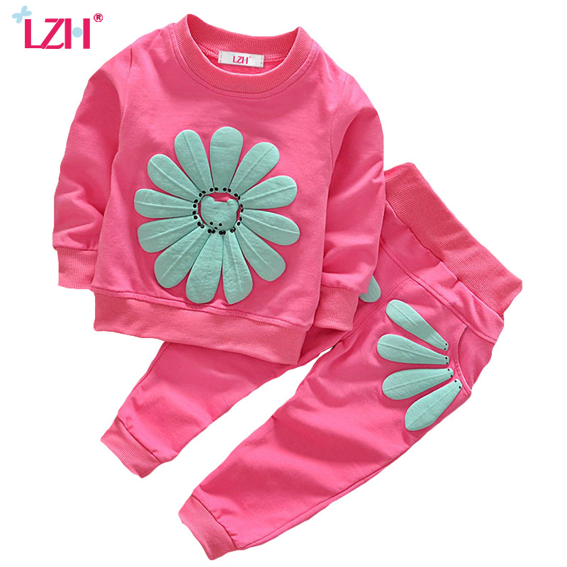 LZH Infant Clothing 2017 Autumn Winter Baby Girls Clothes T-shirt+Pants 2pcs Outfit Suit Baby Girls Clothing Set Newborn Clothes lipo battery 7 4v 2500mah for mjx f45 f645 t23 rc parts helicopter battery can add 3in1 charger f45 22 extra spare toys