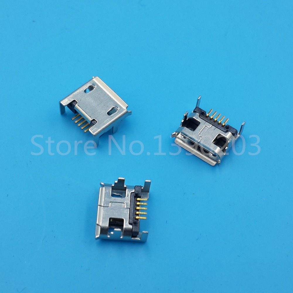 small resolution of 100pcs micro usb female socket 4 vertical legs fixed solder connector long pin in connectors from lights lighting on aliexpress com alibaba group