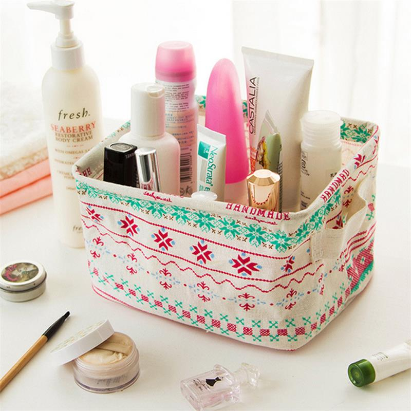 Foldable Desktop Storage Makeup Cosmetic Jewelry Organizer Home Storage