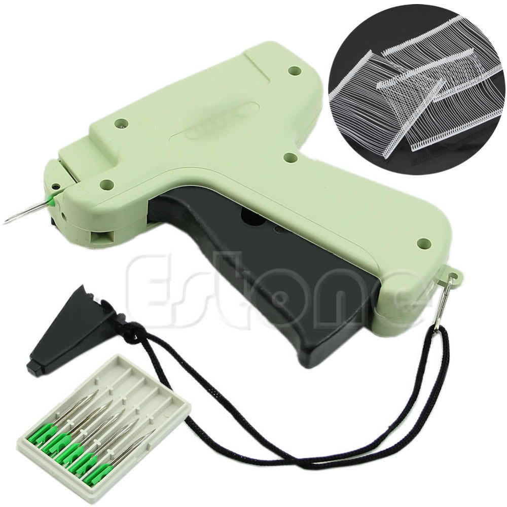 New Clothes Garment Price Label Tagging Tag Gun 1000 Barbs + 5 Needles Free Shipping-Y102