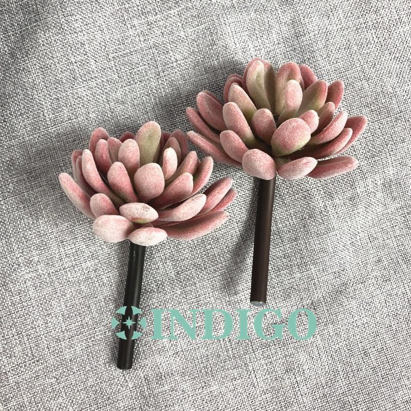 INDIGO- 5 հատ Plush Lotus Echeveria Elegance արհեստական - Տոնական պարագաներ - Լուսանկար 5