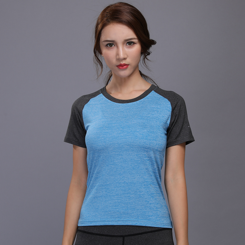 Women Yoga Shirt for Fitness Running Sports T Shirt ,Gym Quick Dry Sweat Breathable Exercises Short Sleeve O Neck Tops