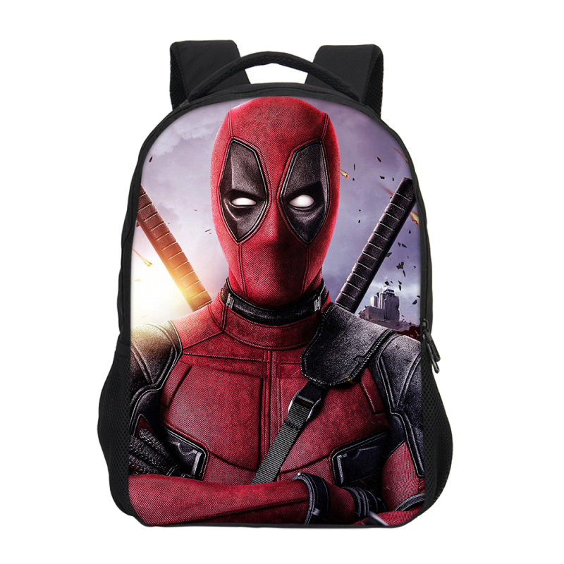 VEEVANV Fashion Dead pool print Bagpack Purse Children School College Bookbag travel Backpack Men Kids boy Gift Mochilas 2018