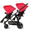 Newstar moda gêmeos carrinho de bebê da marca bebê antes e depois do pram do bebê carrinho de mão dupla 9 cores exportação 2 assentos
