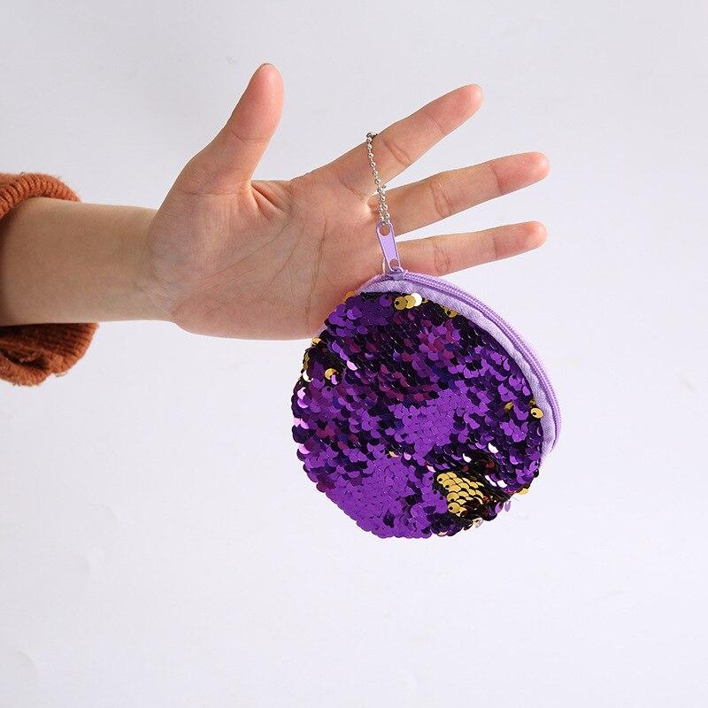 2018 NEW Fashion Children Coin Purse Mini Paillette Coins Wallet Mermaid Sequins Money Bags Cartoon Change Wallets Kid Gift