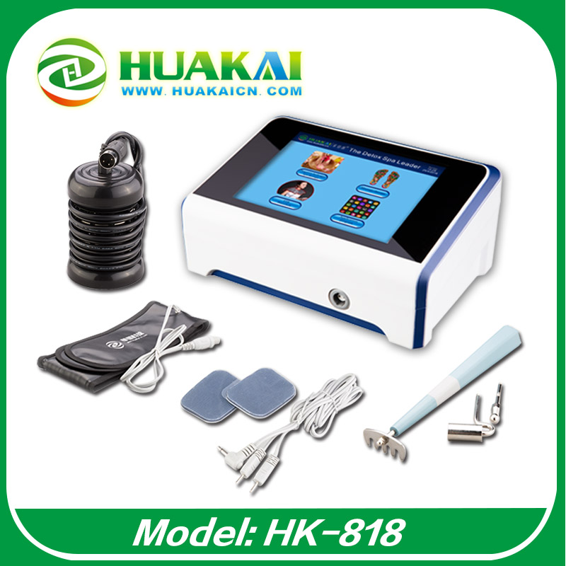 2017 Touch Screen ion Detox Foot Spa Machine HK-818 With Acupuncture Pen hk 04 hk 14 touch screen om 23 touch screen