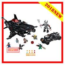 10846 Marvel Мстители DC Супер Герои Бэтмен Летающий лиса Бэтмобиль Airlift шагомер-конструктор кирпичная игрушка Совместимость Legoings