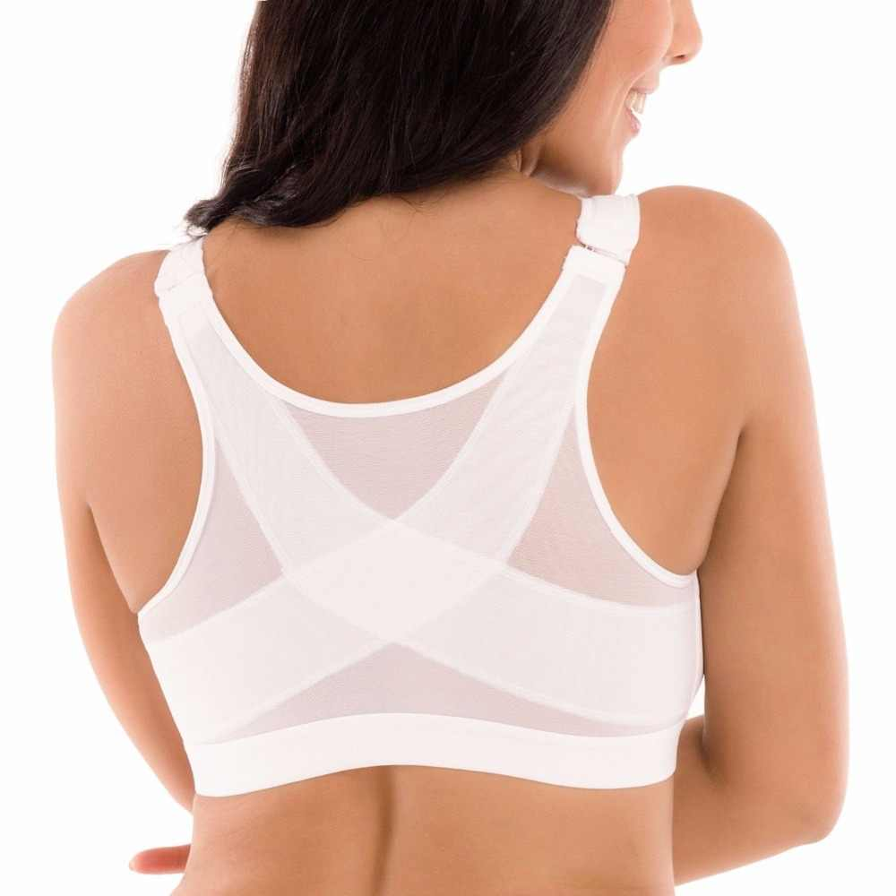 Free Ship Women's Front Closure Full Coverage Non-padded Underwear Back Support Posture Wire Fress Bra 34 36 38 40 B C D DD