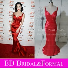 Dita Von Teese Red Carpet Red Mermaid Abendkleid Promi Formales Abend-kleid