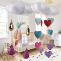 Cloud Heart-shaped Wall Hangings Baby Room Decoration Hanging Decorative Gifts Baby Mosquito Net Pendant Accessory 3
