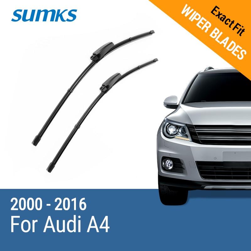 SUMKS Lames D'essuie-Glace pour Audi A4 B6 B7 B8 2000 2001 2002 2003 2004 2005 2006 2007 2008 2009 2010 2011 2012 2013 2014 2015 2016