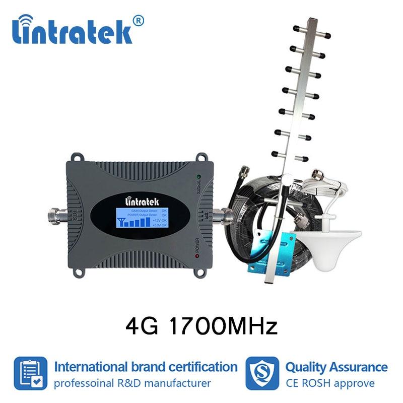 Lintratek AWS 1700/2100 mhz amplificateur cellulaire 3G UMTS 4G LTE 1700 Booster MINI antenne de plafond répéteur + écran LCD 12 m #4