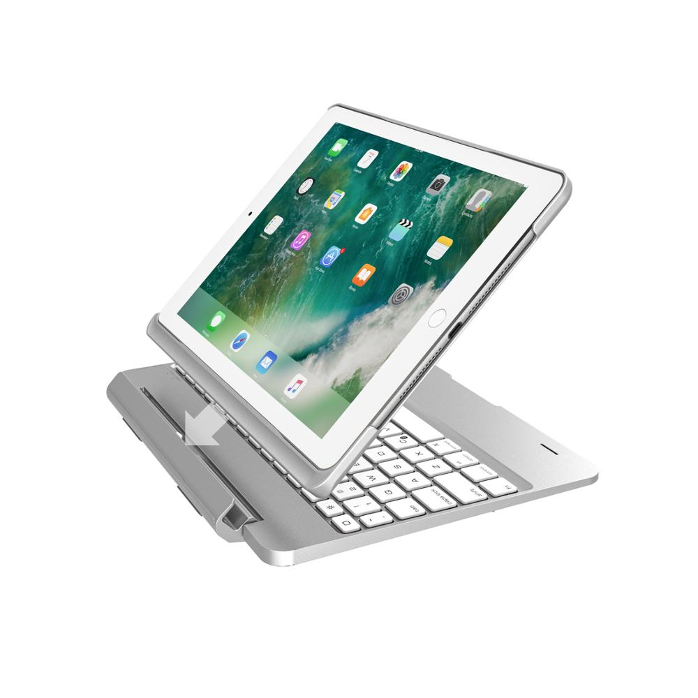 NEW Wireless Bluetooth Keyboard Case For IPad Air 2 Pro 9.7 Inch 2018 With Colorful LED Backlight
