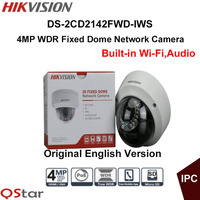 Hikvision Original English Version Surveillance Camera DS 2CD2142FWD IWS 2 8mm 4MP IP Camera PoE Audio
